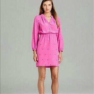 LILLY PULITZER {XS} Turner Hot Pink Dot Dress